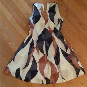 H&M black, brown, tan and cream dress